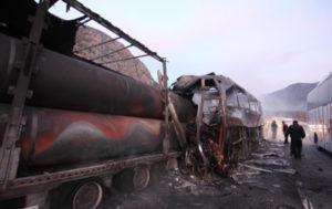 В Турции автобус врезался в фуру: 13 погибших