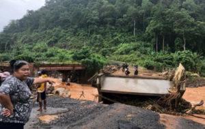 Прорыв дамбы в Лаосе: погибли более 40 человек