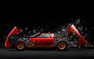 Фотограф сделал из 1500 деталей Lamborghini шедевр