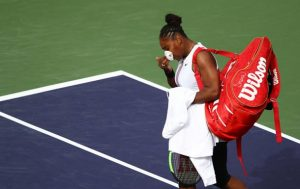 Серена Уильямс не смогла доиграть матч против Мугурусы